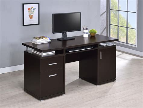 Desks For Home Office by Tracy Desk Contemporary Cappuccino Computer Desk