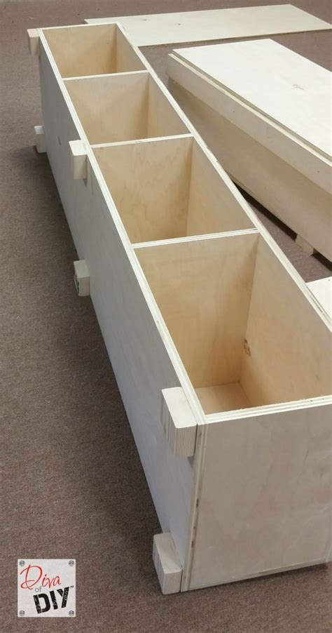 diy platform bed  storage diy