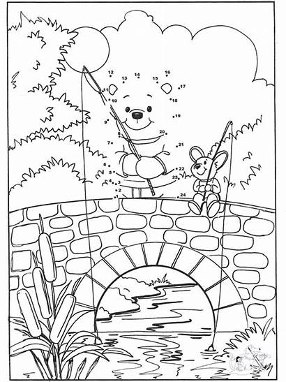 Dots Connect Bear Number Coloring Bears Pages