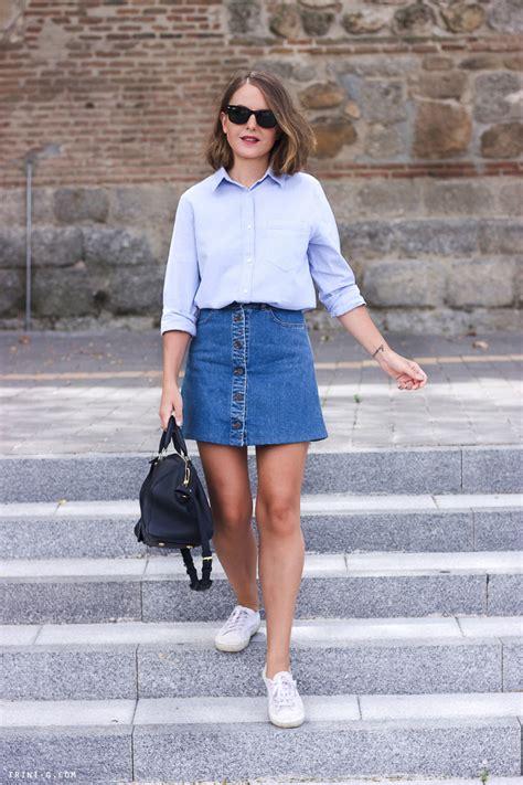 Stella McCartney denim skirt Club Monaco shirt | Trini