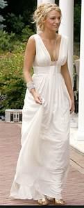 Blake Lively (Serena) White Chiffon Prom Dress Gossip Girl ...