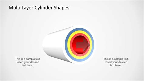 multi layer cylinder shapes  powerpoint slidemodel