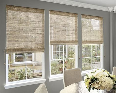 alluring natural fiber roman shades    sunroom