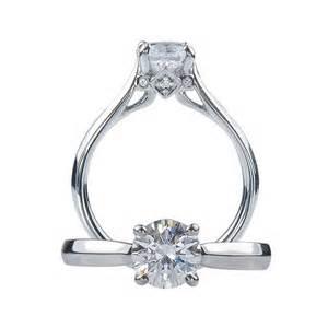 ritani wedding rings ritani for forevermark tapered platinim solitaire engagement ring mounting king jewelers