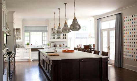 brown kitchen island transitional kitchen  frederick
