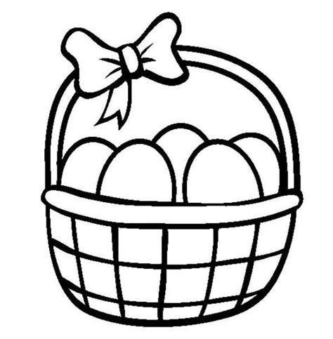 easter basket coloring pages coloring pages easter baskets clipart best