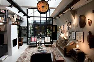 loft aux touches tres masculines a amsterdam vivons maison With decoration interieur style industriel
