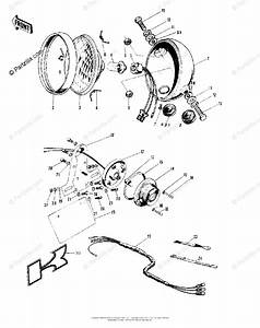 Kawasaki Motorcycle 1980 Oem Parts Diagram For Headlight  Taillight  Chassis Electrical E