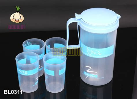 1 8 l plastic water jug with 4 cups water pitcher buy