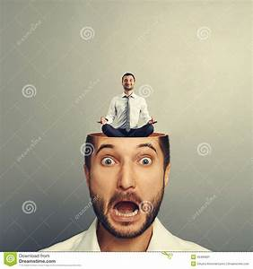 Stressed Businessman With Open Head Stock Image