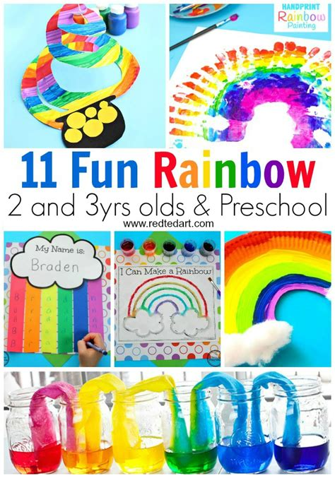 rainbow crafts for preschool ted 420 | Rainbow Crafts Toddler