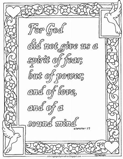 Timothy Coloring Printable Pages God Bible Verse