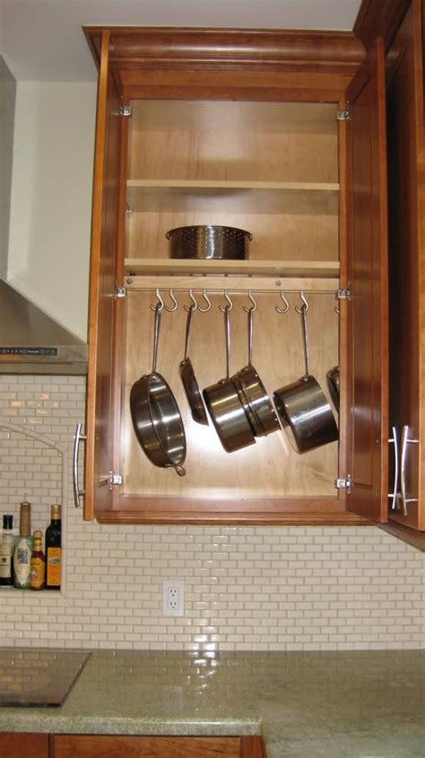 pots and pans rack cabinet hanging pot rack in cabinet pots and pans pinterest