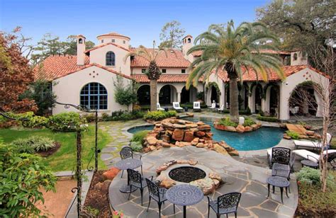 Gated Mediterranean Mansion In Houston, Texas