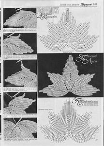 Irish Crochet Leaf Diagram