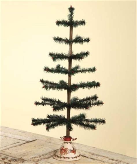 bethany lowe 26 quot vintage style feather tree christmas tree