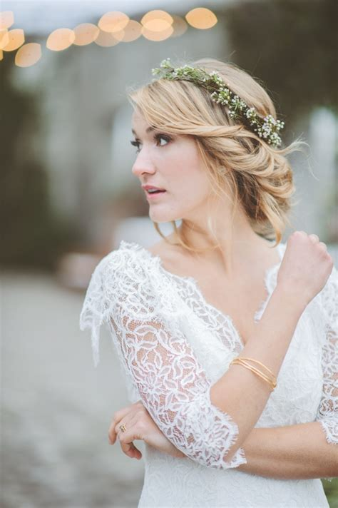 Wedding Hair Floral Crownwedding Hair With Flower Crown