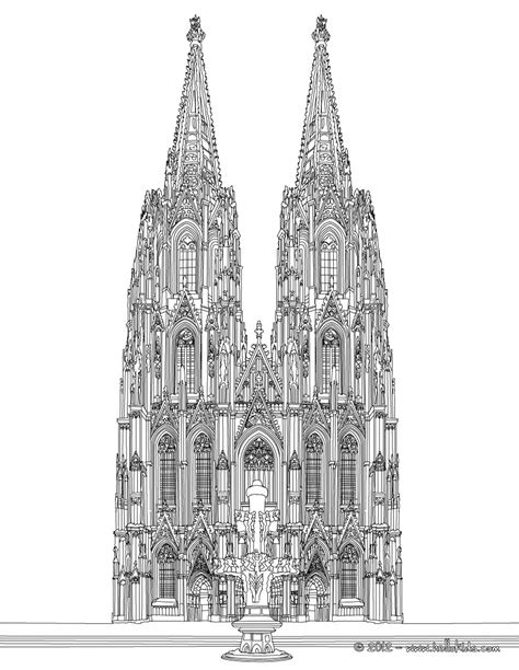 cathedral  cologne coloring pages hellokidscom