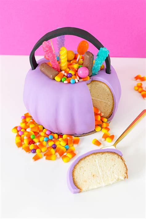 halloween pumpkin candy pail cake