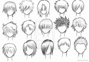 draw anime male hair 20 - Full Image