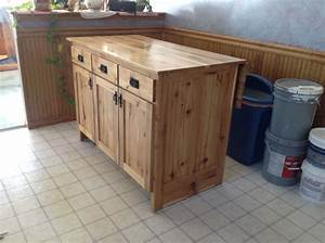 Hand Made Portable Kitchen Island by The Amish Hook Up