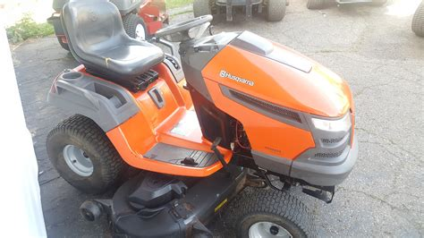 how to clean lawn mower 54in husqvarna yth2454 heavy duty riding tractor 300 hours clean unit mulch kit gsa equipment