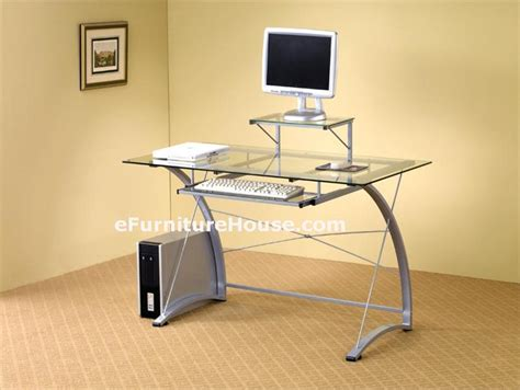 Glass And Metal Computer Desk by Glass And Metal Computer Desk
