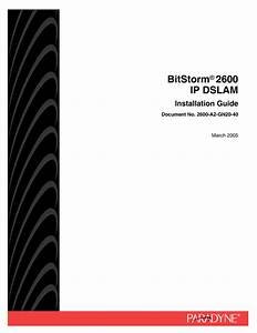 Ip Dslam Bitstorm 2600 Manuals