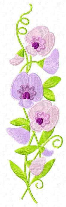 sweet pea designs 4 hobby machine embroidery designs flowers