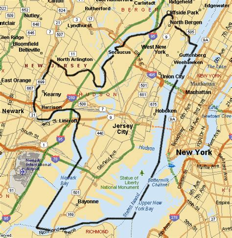 hudson county  jersey homes map links