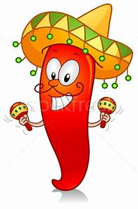 Chili Playing with Maracas vector illustration © lenm ...