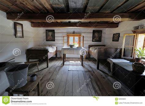 2 farmhouse plans wooden house interior stock photo image 56900800