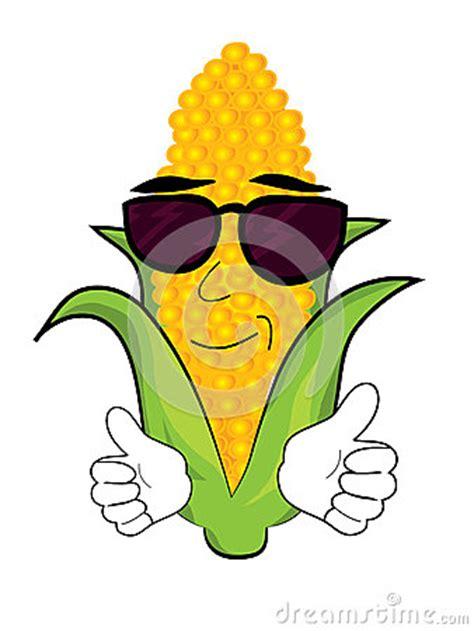 cool corn cartoon stock illustration image
