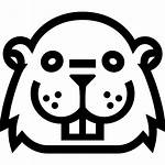 Outline Face Castor Beaver Icon Animal Icons