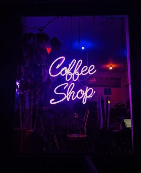 Shop for carson carrington telsiai triangle wood coffee table. Coffee shop neon | Neon signs, Neon aesthetic, Purple coffee shop
