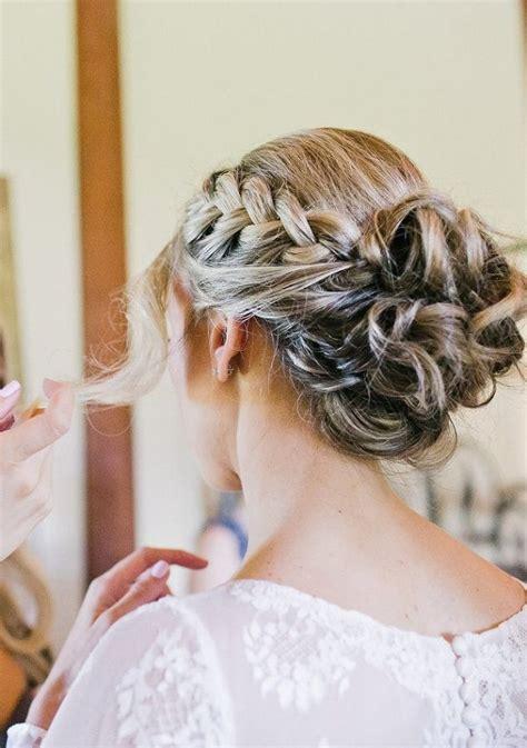braided bun wedding hairstyle for long hair deer pearl