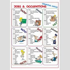 Jobs & Occupations Speaking Cards  Job And Occupation  Pinterest  Studentcentered Resources