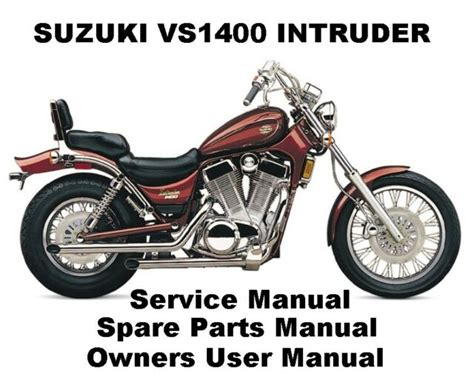 Suzuki Intruder 1400 Parts by Suzuki Intruder Vs 1400 Owner Service Workshop Repair