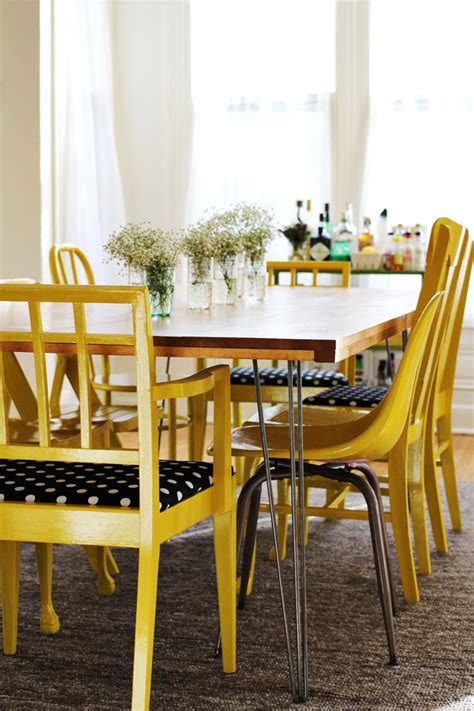 home diy dining room table  mismatched chairs