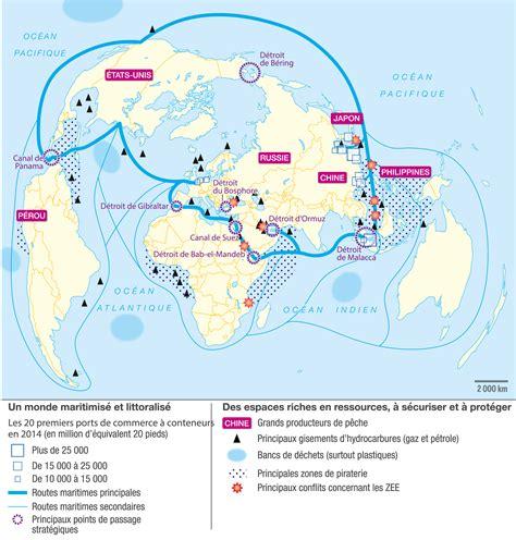 Carte Des Mers Dans Le Monde by Un Monde Maritimis 233 Image Lelivrescolaire Fr