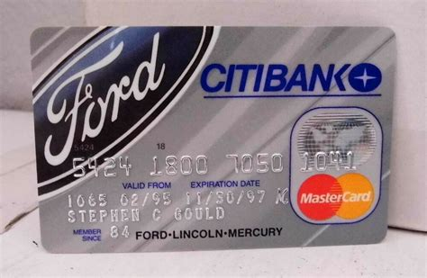 We did not find results for: Citibank Ford Lincoln Mercury Mastercard Credit Card - Expired Collectible   eBay