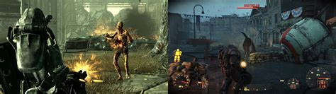 Fallout Screenshot Comparison With Side