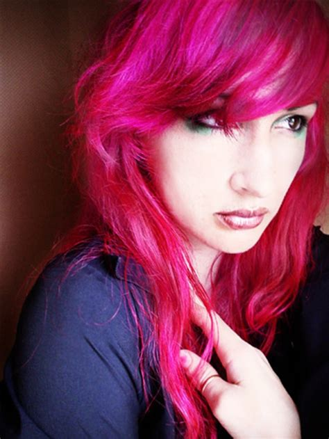 1000 Ideas About Bright Pink Hair On Pinterest Bright