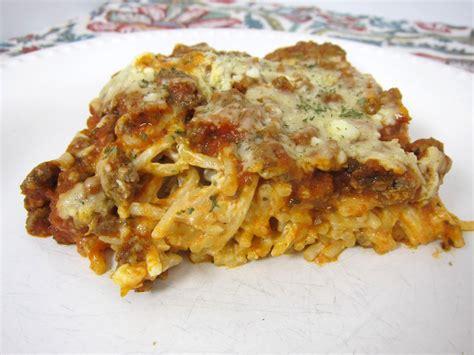 spaghetti casserole baked cream cheese spaghetti casserole plain chicken