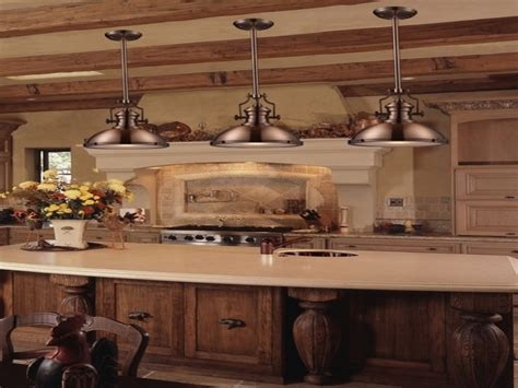 French country kitchen lighting, industrial pendant