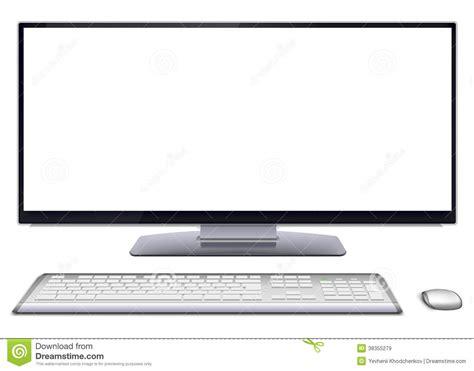 ordinateur de bureau avec ecran ordinateur de bureau moderne avec l 39 écran vide images