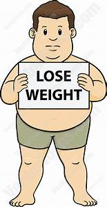 Overweight Man In Shorts Holding A Sign That Says Lose ...