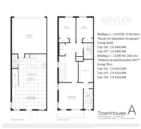 Townhomes For Sale In Miami At Aventura Place Aventura