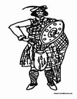 Scottish Scotland Coloring Kilt Pages Sheets sketch template
