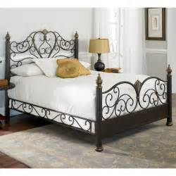 details about ikea wrought iron king size bed frame bed